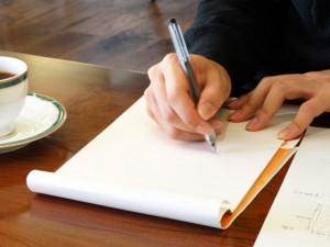 喫茶店での書き物